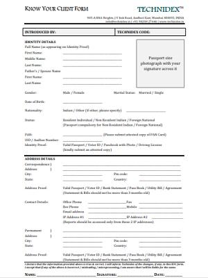 Subscription Document